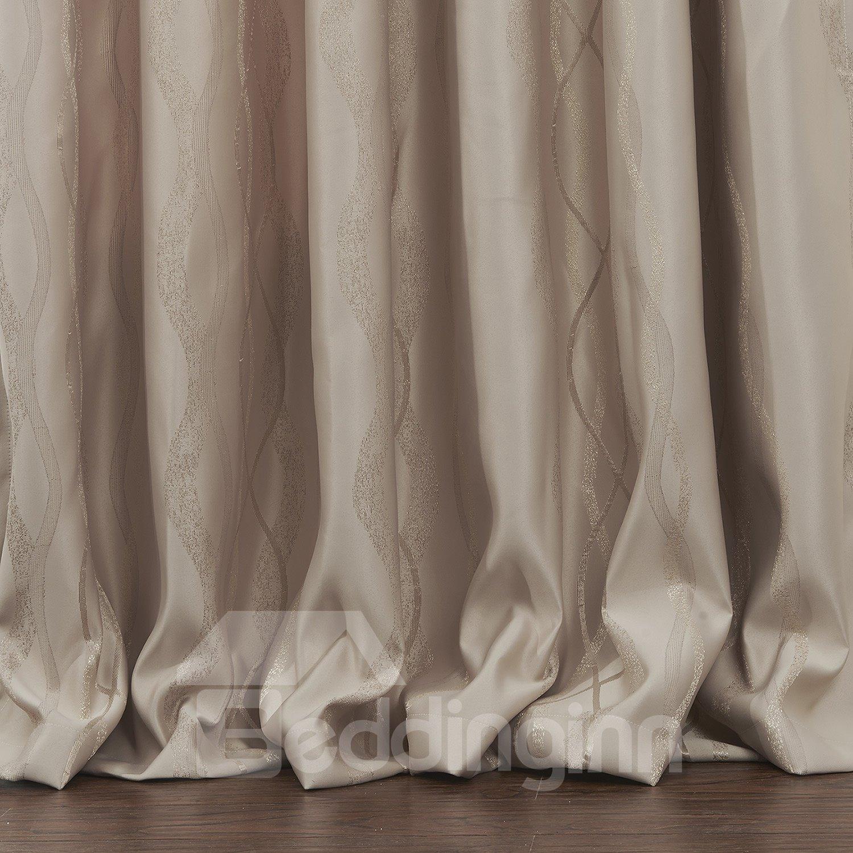 Fantastic Pretty Beige Ribbon Pattern Custom Curtain