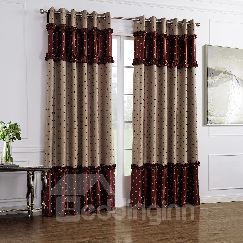 Luxury Double Color Scheme Grommet Top Custom Made Curtain