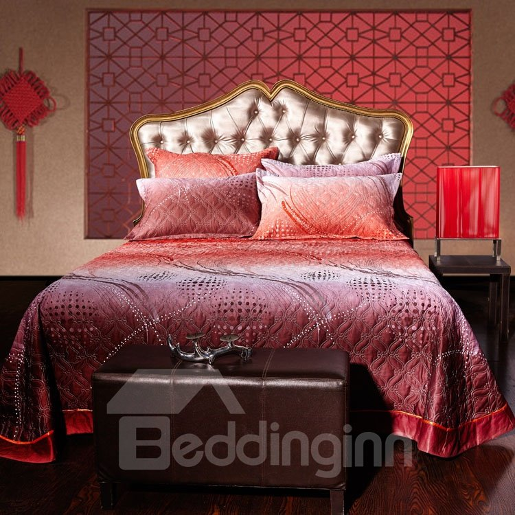 Grand Pure Color Scallop Pattern Bed in a Bag