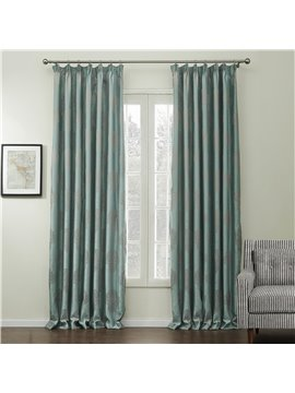 Graceful Elegant Green Jacquard Pattern Custom Curtain