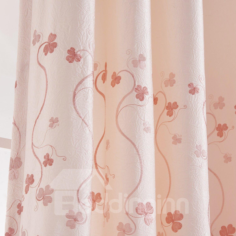 Top Quality Pretty Subtle Floral Pattern Custom Curtain