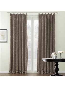 Graceful Amazing Coffee Jacquard Pattern Custom Curtain