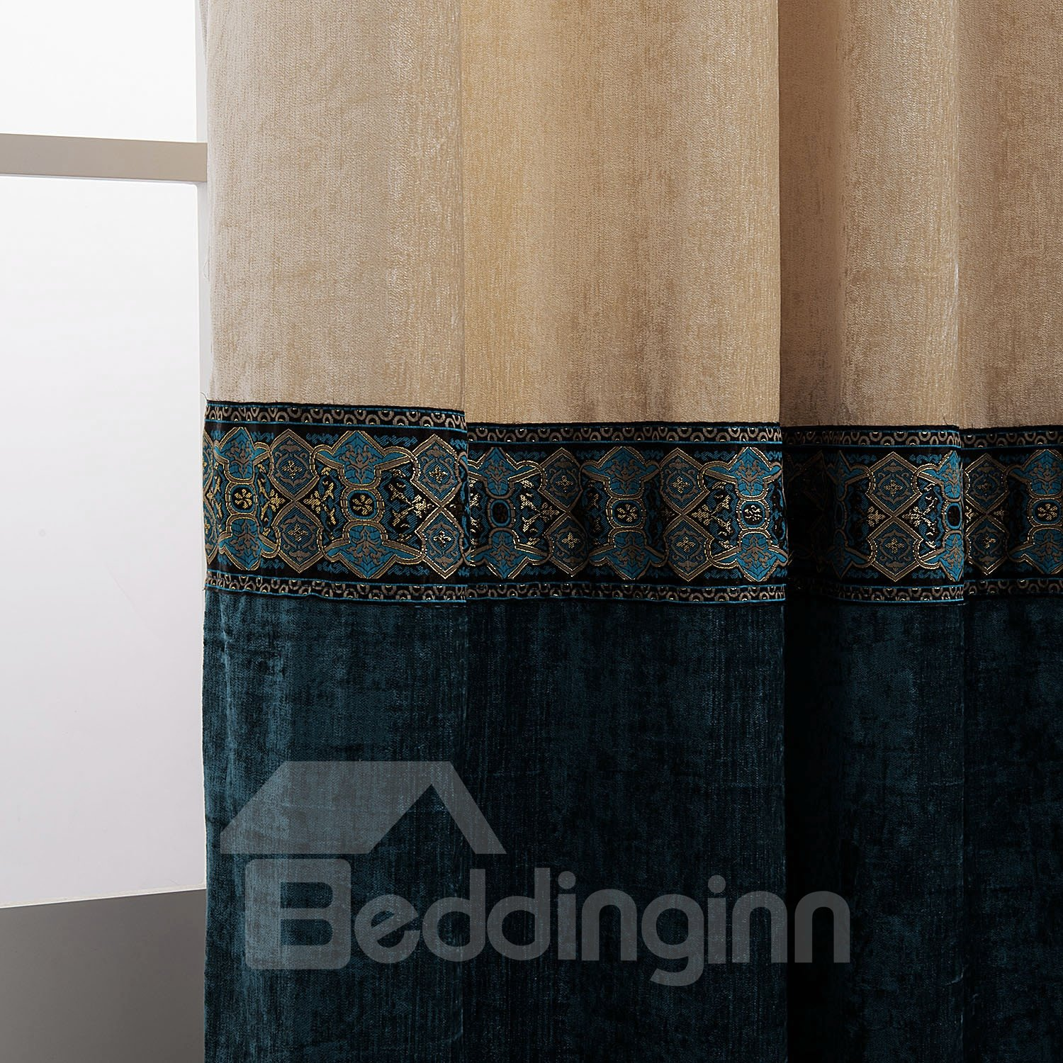 Popular Dyeing Double Colors Pretty Custom Curtain