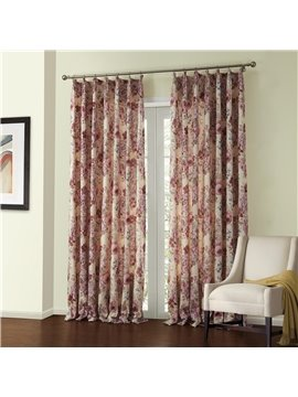 Amazing Elegant Bright Floral Pattern Custom Curtain