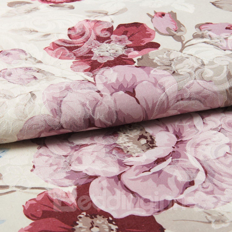 Amazing Elegant Bright Floral Pattern Custom Curtain