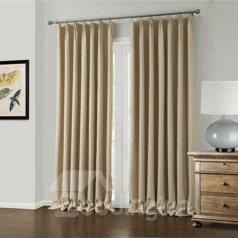 Amazing Elegant Beige Jacquard Pattern Custom Curtain