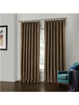 Fantastic Amazing Faux Suede Brown Design Custom Curtain