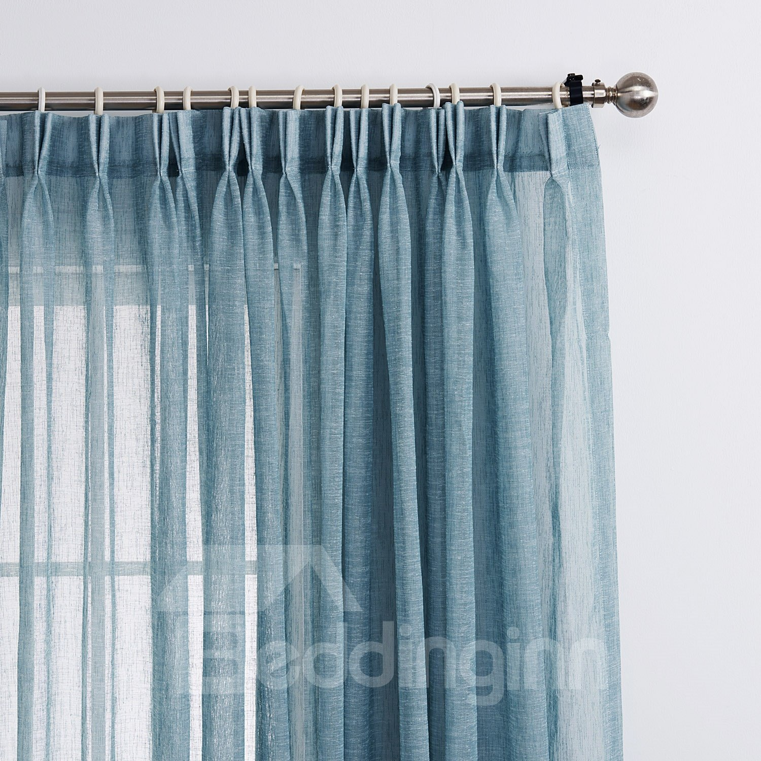 New Style Popular Pretty Blue Custom Sheer Curtain