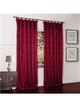 Vibrant Red Two Pieces Double Pinch Pleat Custom Curtain