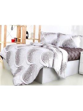 Fashion Concise Circle Pattern 4-Piece Cotton Duvet Cover Sets