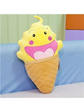 Creative Ice Cream Shape Pattern Plush Throw Pillow