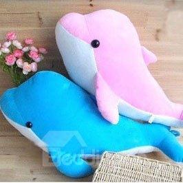 Super Soft Cute Dolphin Shape Pattern Throw Pillow