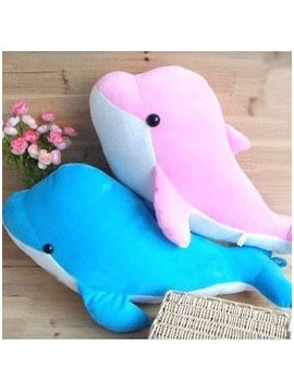 Super Soft Cute Dolphin Shape Pattern Throw Pillow