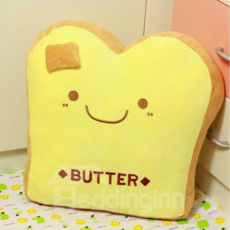 Creative Breakfast Butter Shape Pattern Throw Pillow