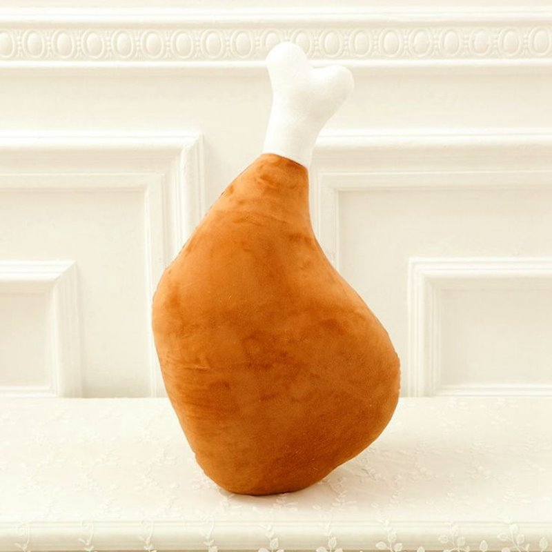 Creative Delicious Big Chicken Leg Pattern Throw Pillow