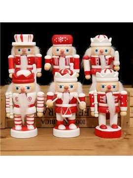 Funny Lovely Nutcrackers Red and White Fat Kids Set