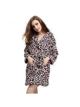 High Quality Fantastic Cozy Leopard Pattern Bathrobe