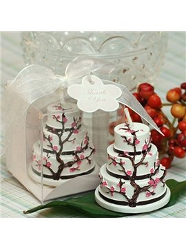 New Arrival Smokeless Unique Design Sakura Cake Candle
