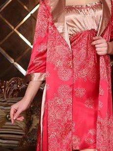 Wonderful Gorgeous Smooth  Jacquard Design Female Robe