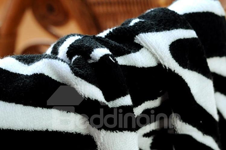 Cozy Modern Fashion Zebra-stripe Style Bath Towel