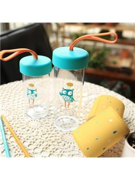Big Creative Yellow and Blue Portable Transparent Cup