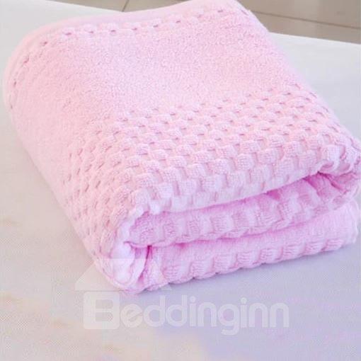 Super Lovely Soft Pink Checks Bath Towel