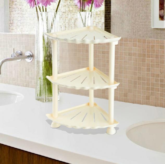 Adorable Shell Design Triple Layers Bathroom Shelf