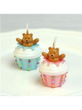Hot Selling Smokeless Handmade Bear Cake Candle