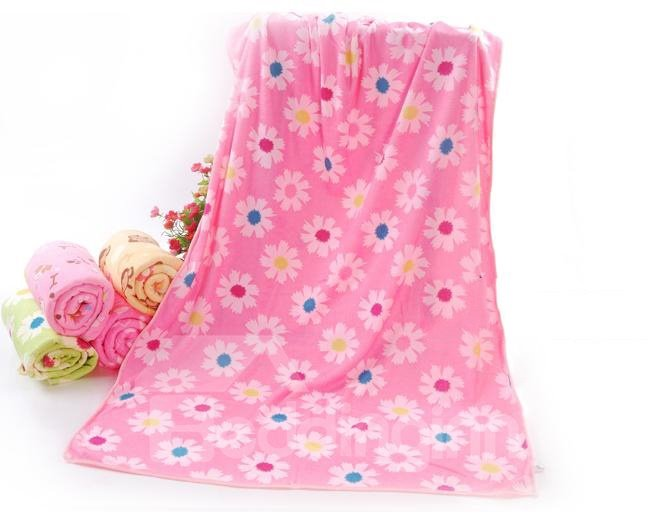 Super Cozy Beautiful Floral Printing Bath Towel