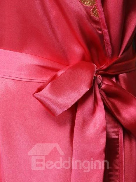 Wonderful Graceful Charming Jacquard Design Female Robe