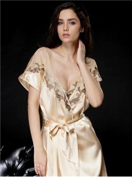 Wonderful Graceful Charming Jacquard Design Female Robe