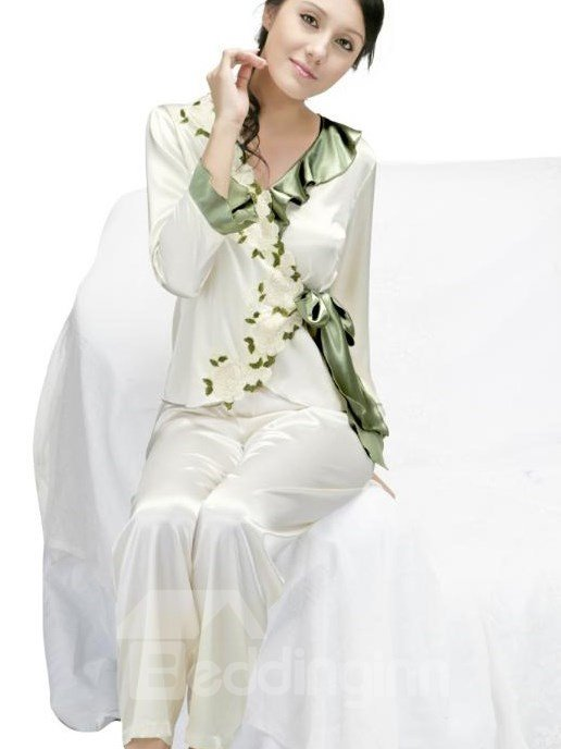 New Arrival Elegant Floral Design Female Loungewear