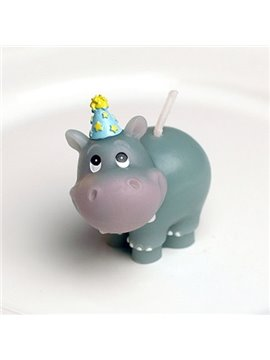 Hot Selling Cute and Happy Hippo Shape Candle
