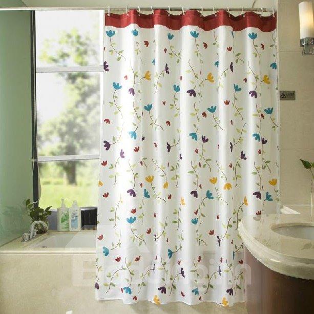 Graceful Pretty Floral Vine Pattern Shower Curtain