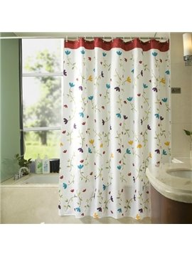 Graceful Pretty Floral Vine Pattern Shower Curtain