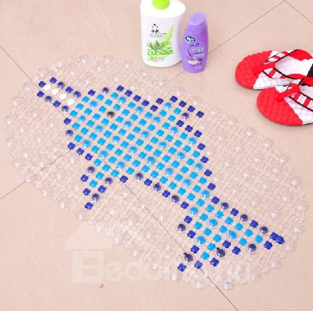 New Arrival Lovely Dolphin Printing Bath Mat