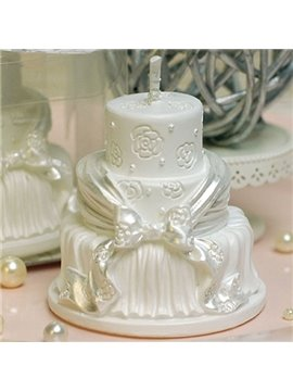 Romantic and Fabulous Wedding Dress Cake Candle