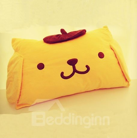 Soft Yellow Decorative Pillows : Super Soft Cute Yellow Purin Pattern Throw Pillow - beddinginn.com