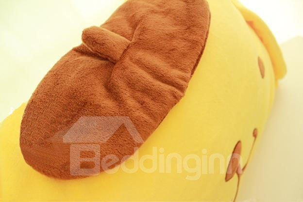 Super Soft Cute Yellow Purin Pattern Throw Pillow