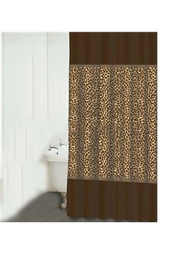 Fabulous Fashion Leopard Design Polyester Shower Curtain