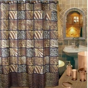 Modern Fashion Leopard Zebra-stripe Pattern Shower Curtain