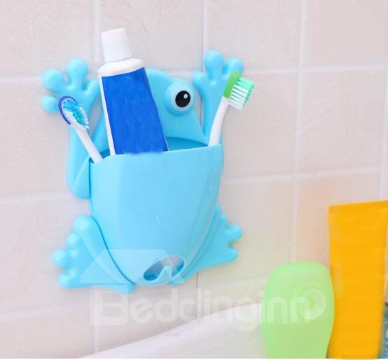 Adorable Cartoon Frog Design  Bathroom Toothbrush Holder