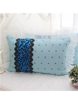 Fresh Leopard Stripes Little Dots Bed Pillowcase