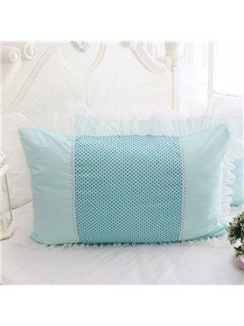 Super Soft White Border Little Dots Bed Pillowcase