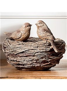 Funny Amazing Monti Couple Little Bird's Nest Jewelry Box