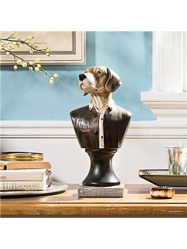 High Quality Color Hand-Painted Simulation Gentleman Dog
