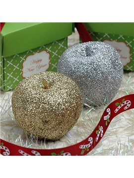 Top Selling Golden and Silver Christmas Apple Candle