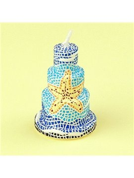 New Design Smokeless Fancy Starfish Cake Candle