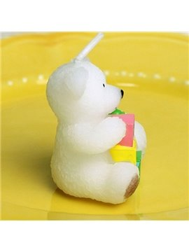 Hot Selling Pure White Lovely Baby Bear Candle
