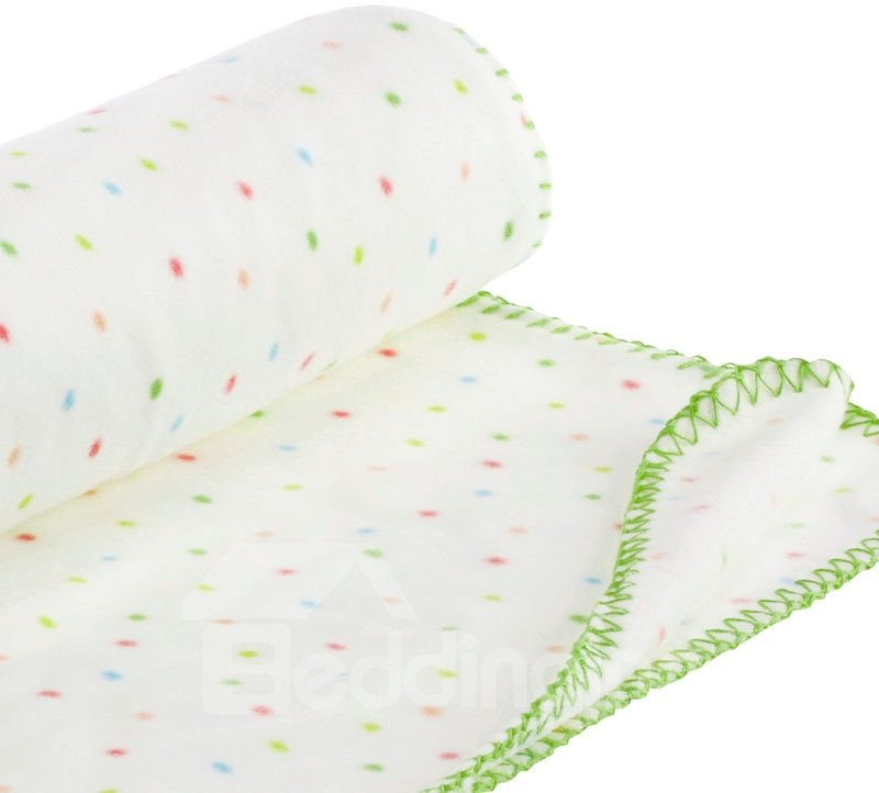 Cozy Comfortable Opaque Colored Dots Pattern Baby Geometry Blanket